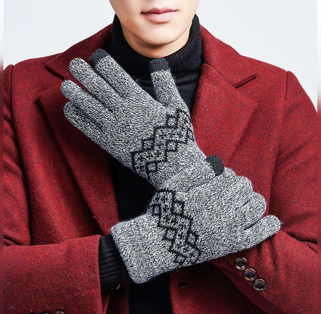 مدل دستکش بافتنی مردانه جدید