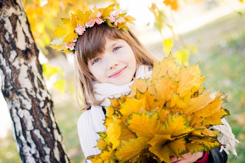 ژست زیبا عکس پاییزی دخترانه