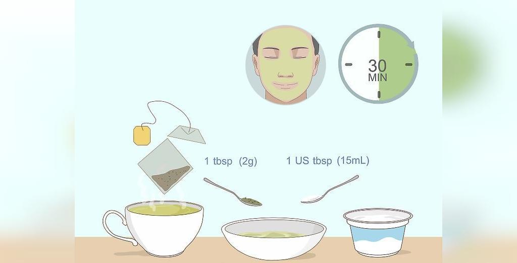 طرز تهیه ماسک چای سبز و ماست برای پوست