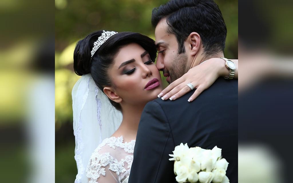 عکس عاشقانه عروس و داماد ایرانی