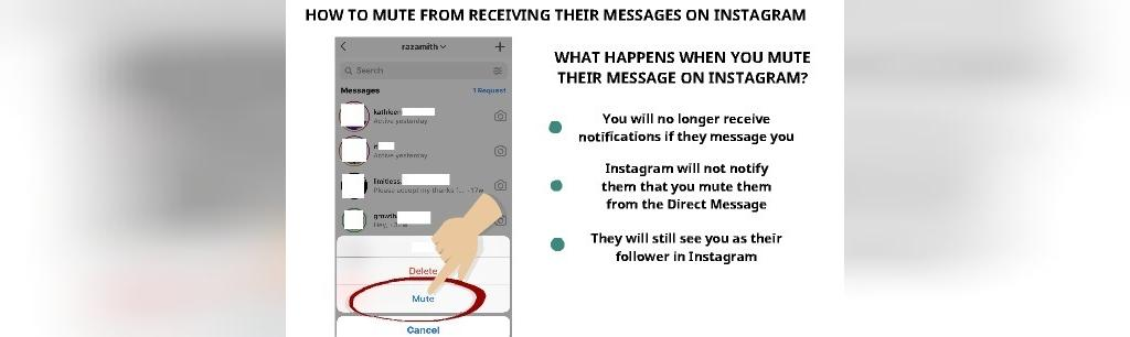 معنی mute message در اینستاگرام