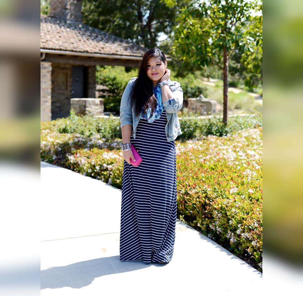 مدل سارافون بلند برای خانم های چاق