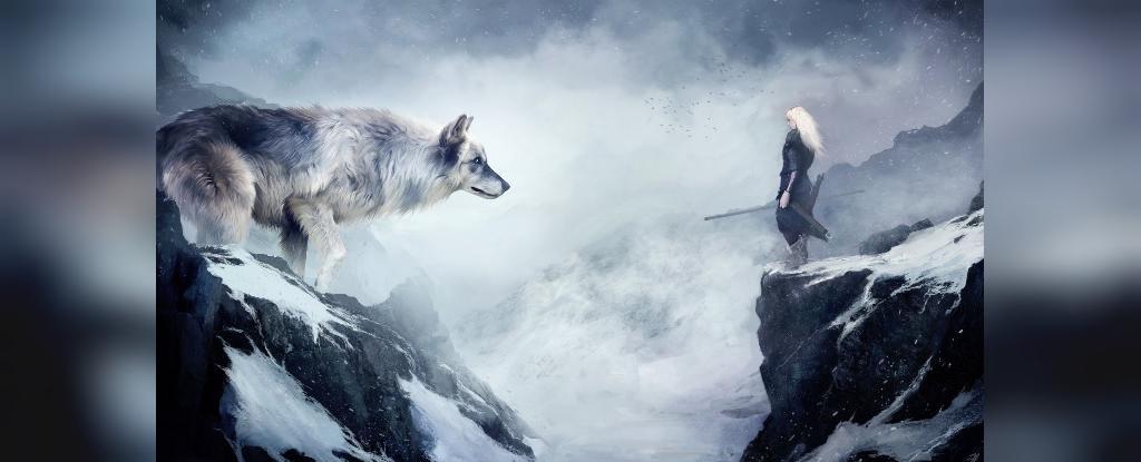 زیباترین عکس گرگ و دختر برای پروفایل