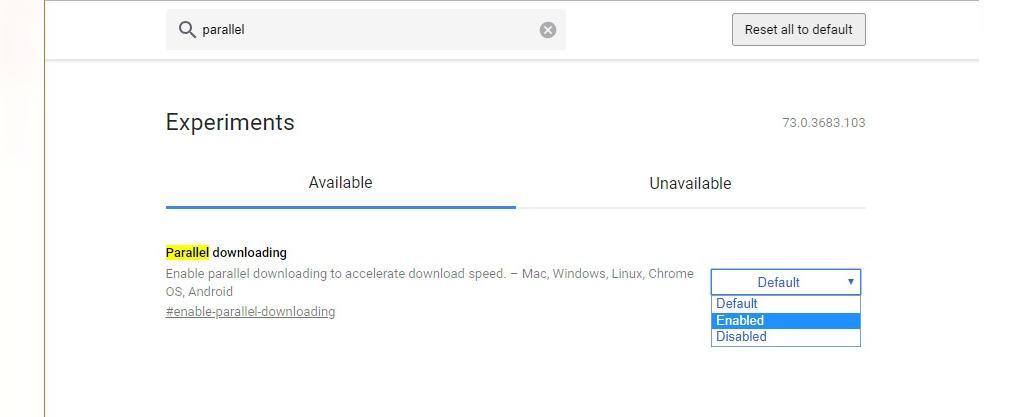فلگ parallel downloading