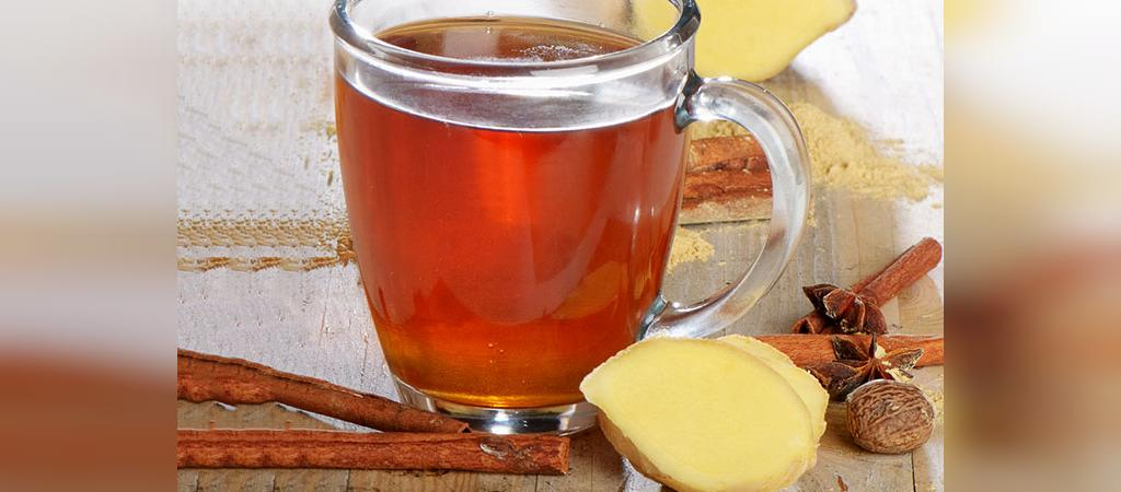 چای زنجبیل و دارچین