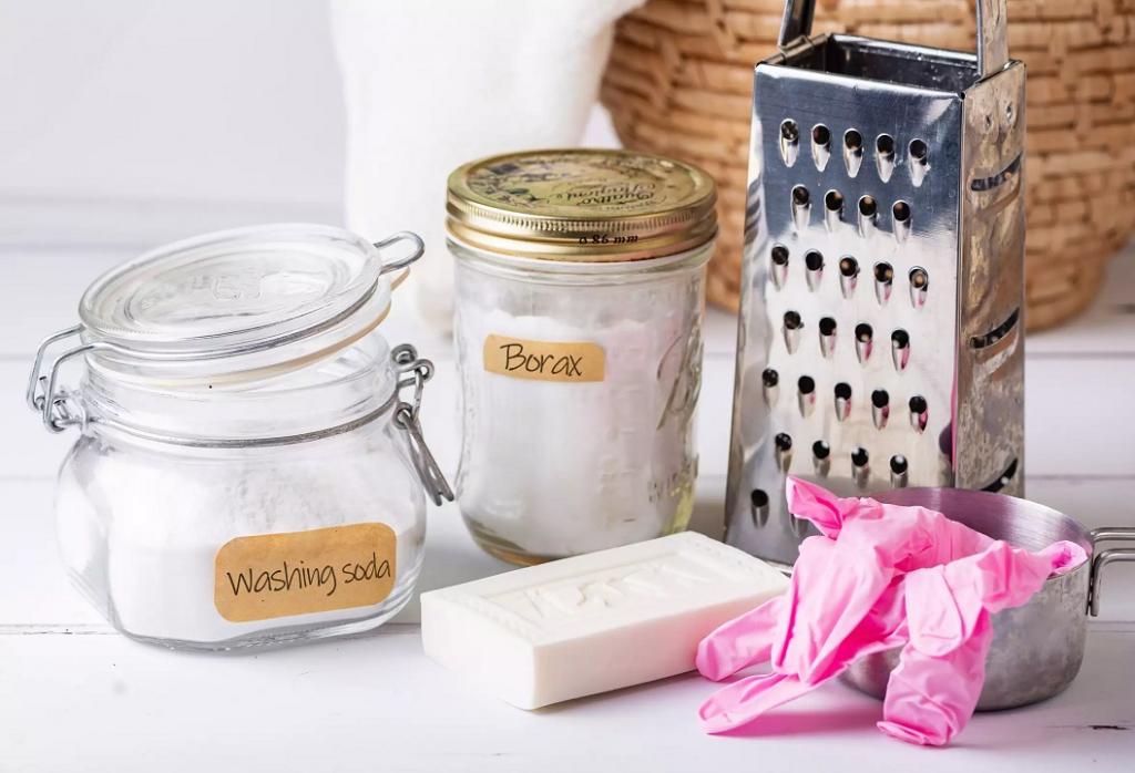 مواد لازم برای ساخت پودر لباسشویی خانگی