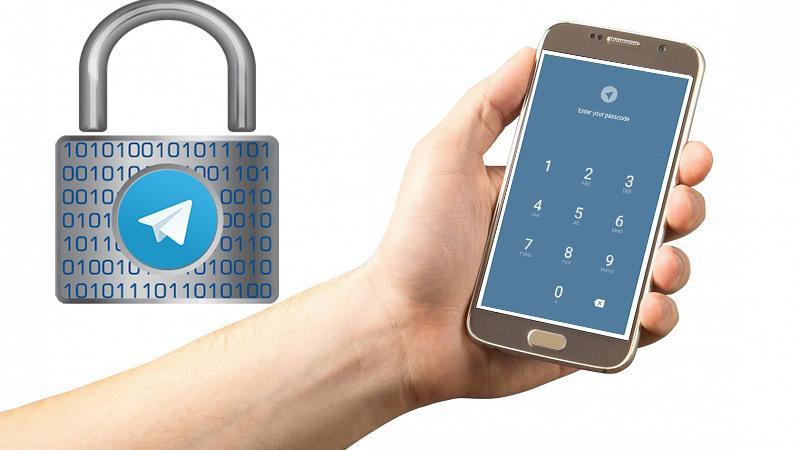 رمز گذاشتن برای تلگرام