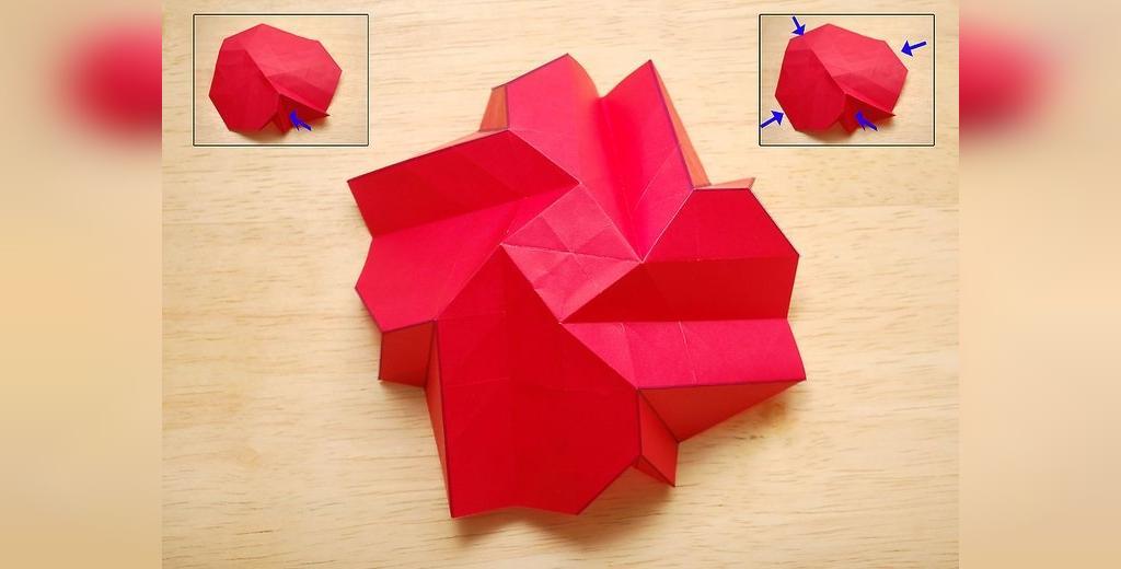 چگونگی درست کردن گل رز شیک با کاغذ
