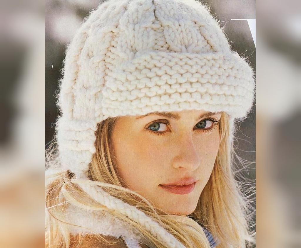 مدل کلاه بافتنی لبه دار زنانه