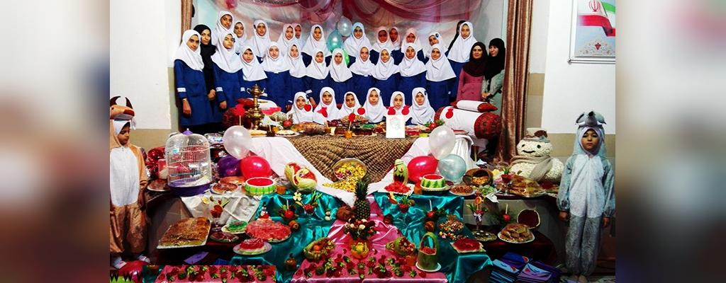 تزیین خاص شب یلدا برای مدرسه