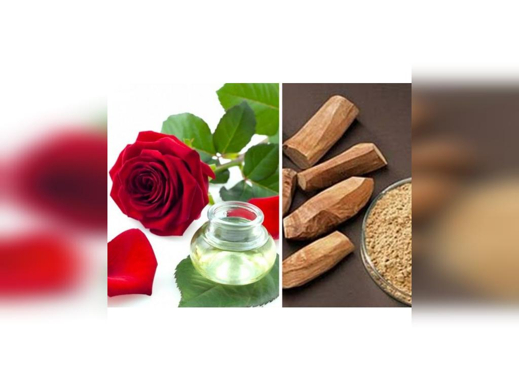 درمان جای جوش با چوب صندل و گلاب