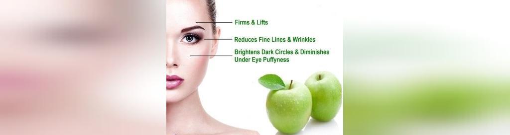 درمان تیرگی اطراف چشم با سیب سبز