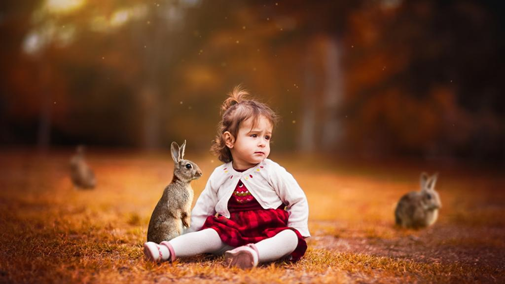 ژست عکس کودک با حیوان خانگی