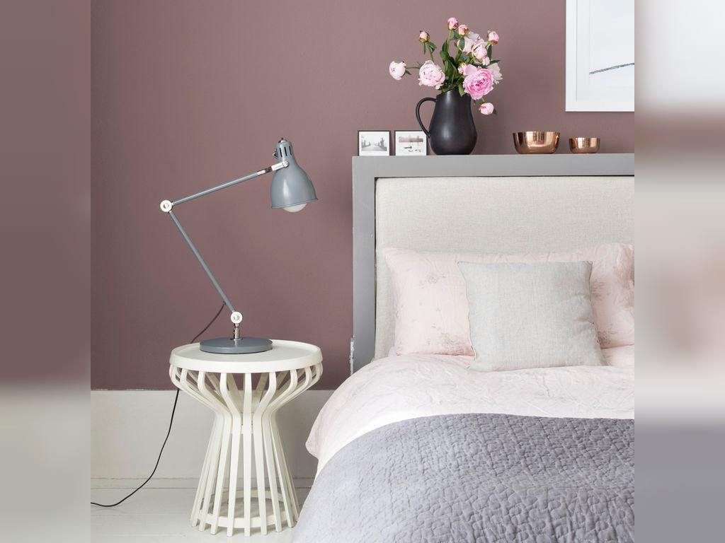 ترکیب رنگ صورتی خاکستری برای اتاق خواب