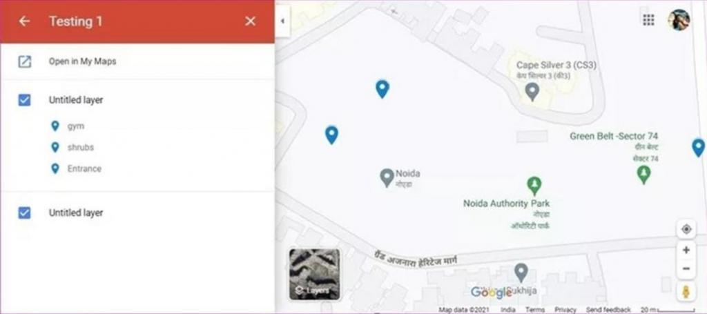 ساخت نقشه روی گوگل مپ