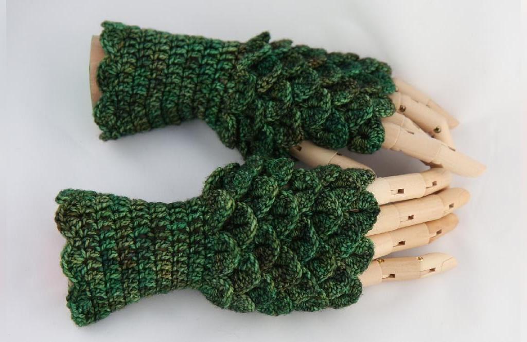 مدل دستکش بافتنی با قلاب طرح آناناس