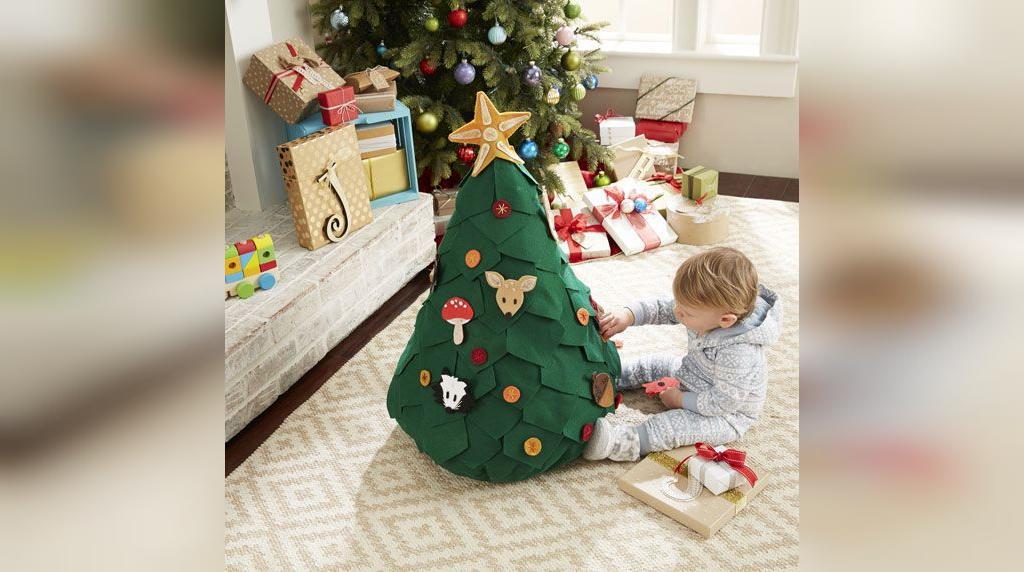 تزیین درخت کریسمس با نمد