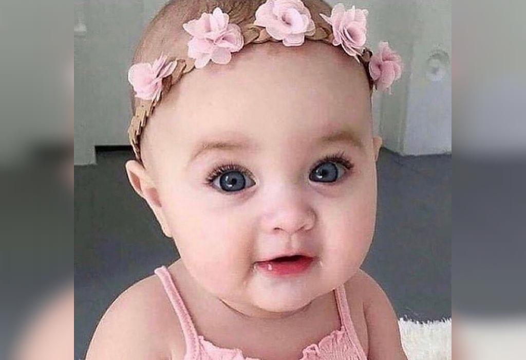 عکس نی نی دختر شیرین و ناز و چشم رنگی برای اینستاگرام