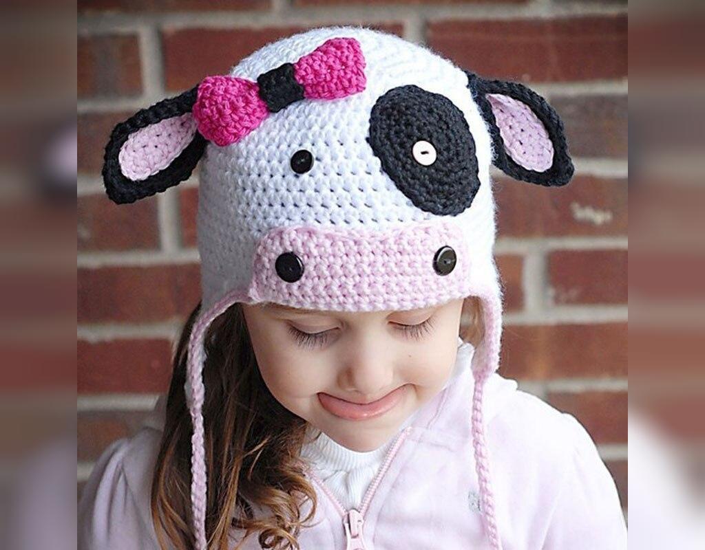 مدل کلاه بافتنی گوش دار بچگانه فانتزی طرح حیوانات