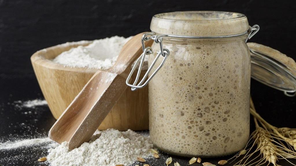 طرز تهیه استارتر خمیر ترش خانگی سنتی برای نان مرحله به مرحله