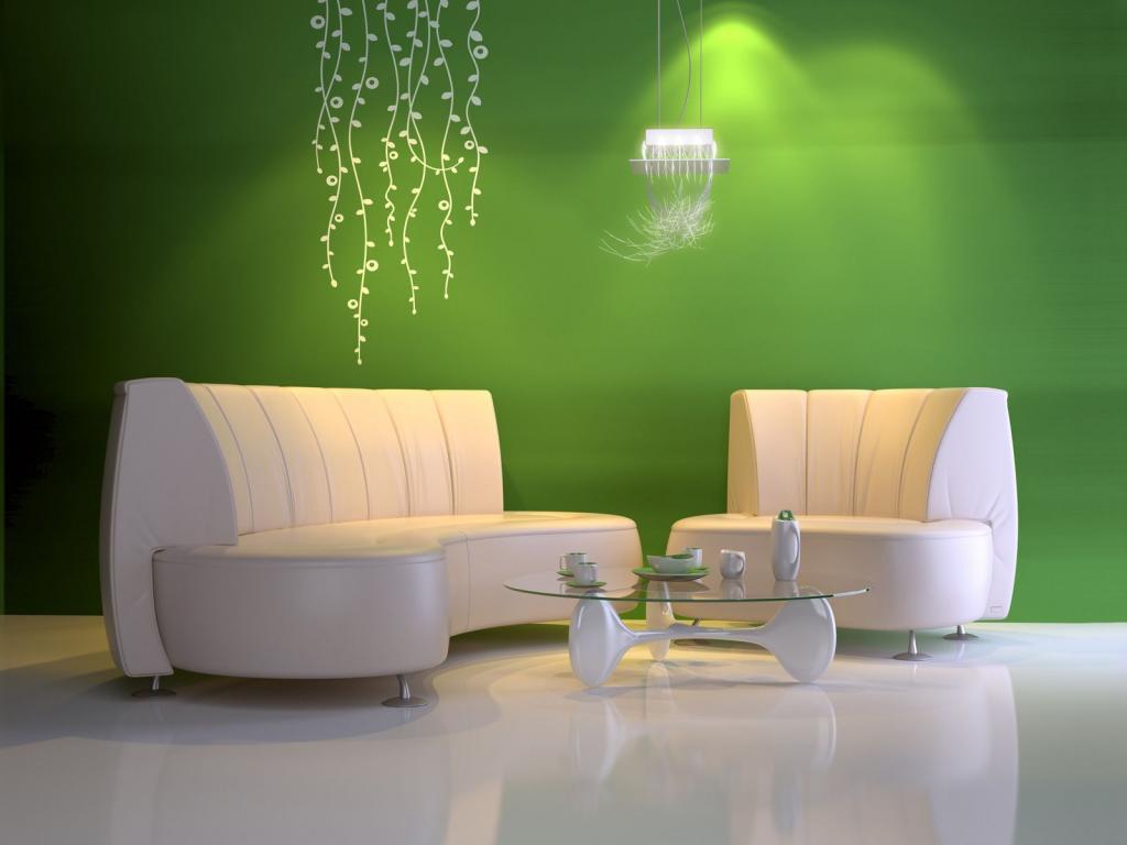 رنگ سبز برای دیوار خانه