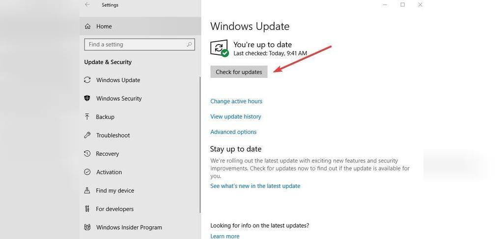 روش رفع مشکل غیر فعال شدن کپی پیست در ویندوز؛ به روز رسانی ویندوز