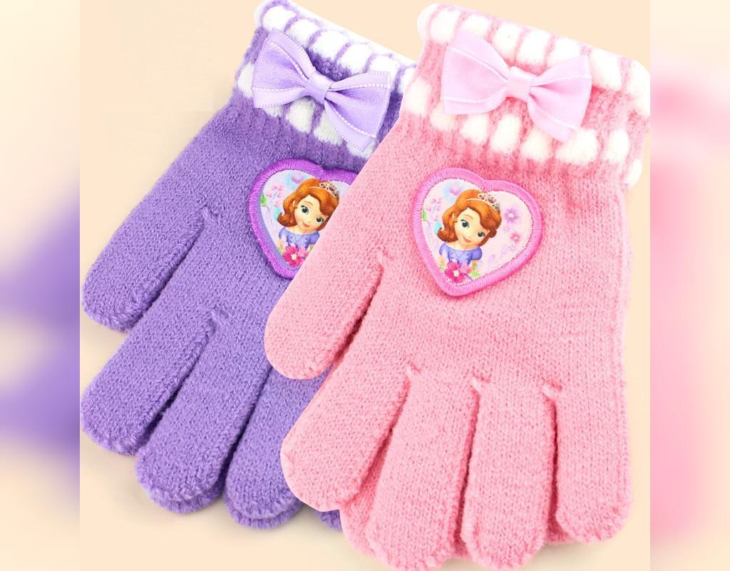 مدل دستکش بافتنی 5 انگشتی دخترانه
