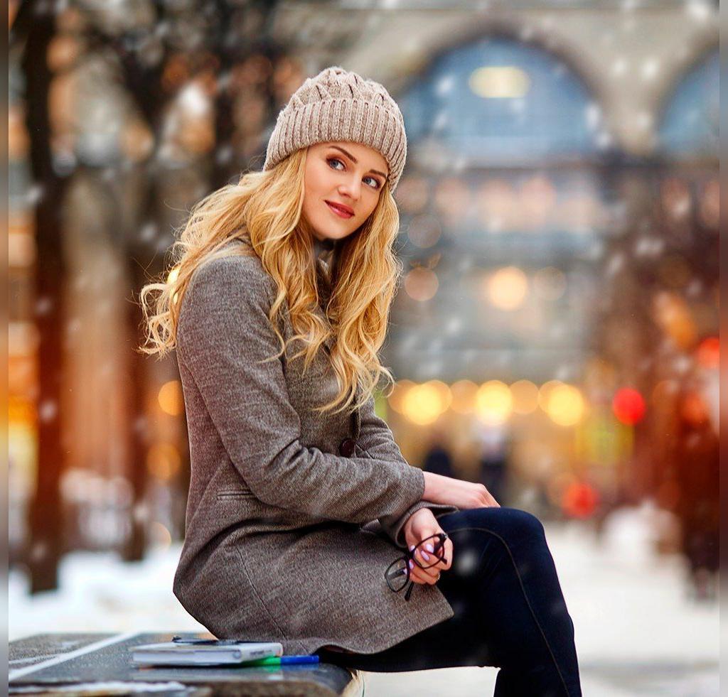 ژست عکس پروفایل زیبا دخترونه در برف