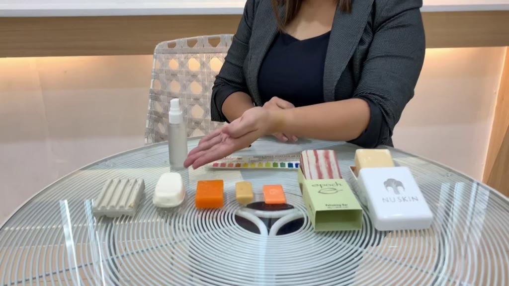 برای انجام تست پچ برای صابون گلیسیرین