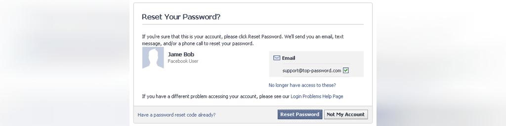بازیابی رمز عبور فیسبوک