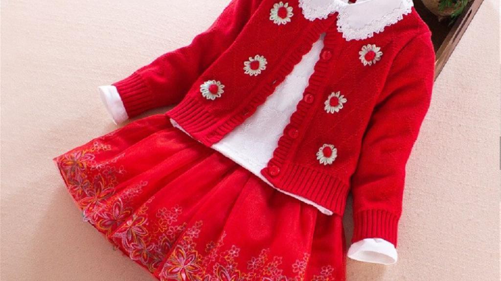 آموزش ژاکت بافتنی بچه گانه دخترانه؛ مدل لباس بافتنی دخترانه