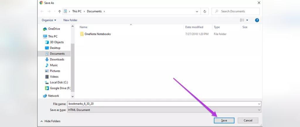 ایجاد فایل پشتیبان گیری از نشانه ها  HTML