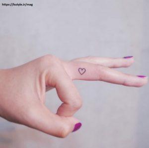 طرح تتو ظریف دخترانه قلب
