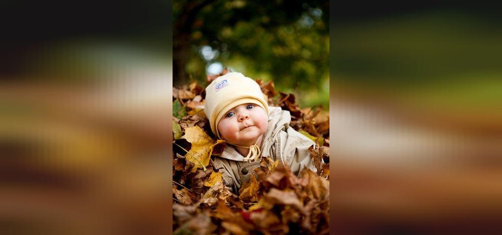 ژست عکس کودک در طبیعت