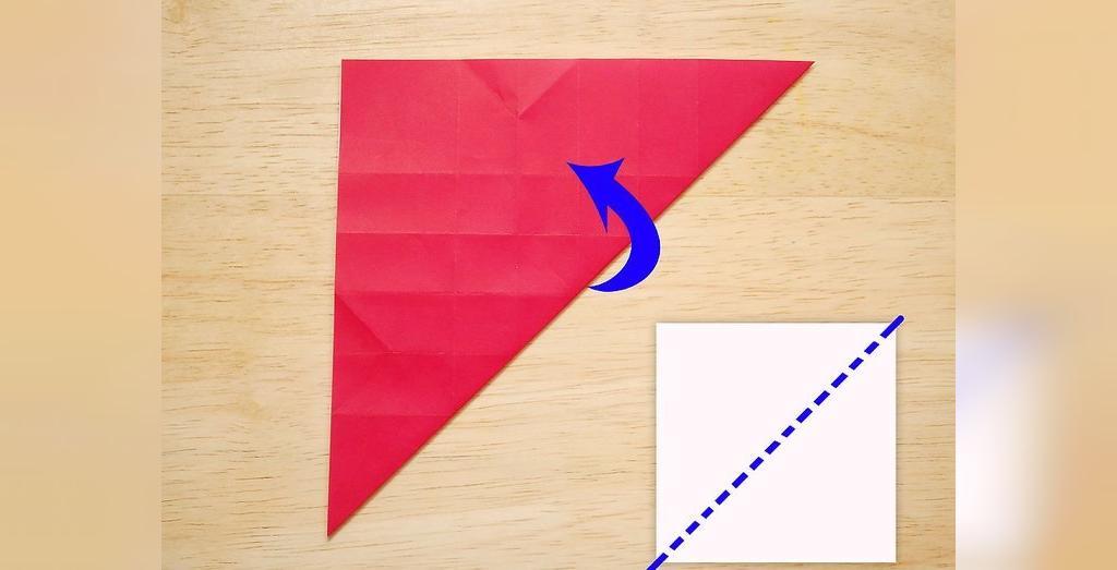 آموزش درست کردن اوریگامی گل رز