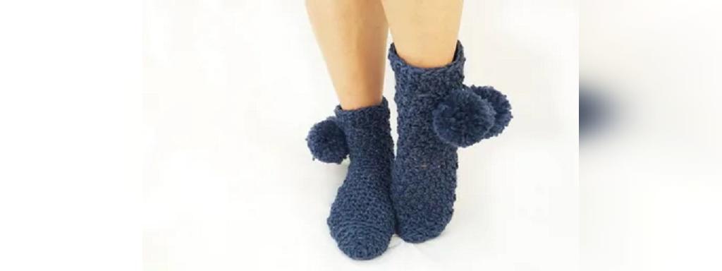 جوراب بافتنی دخترانه فانتزی منگوله دار
