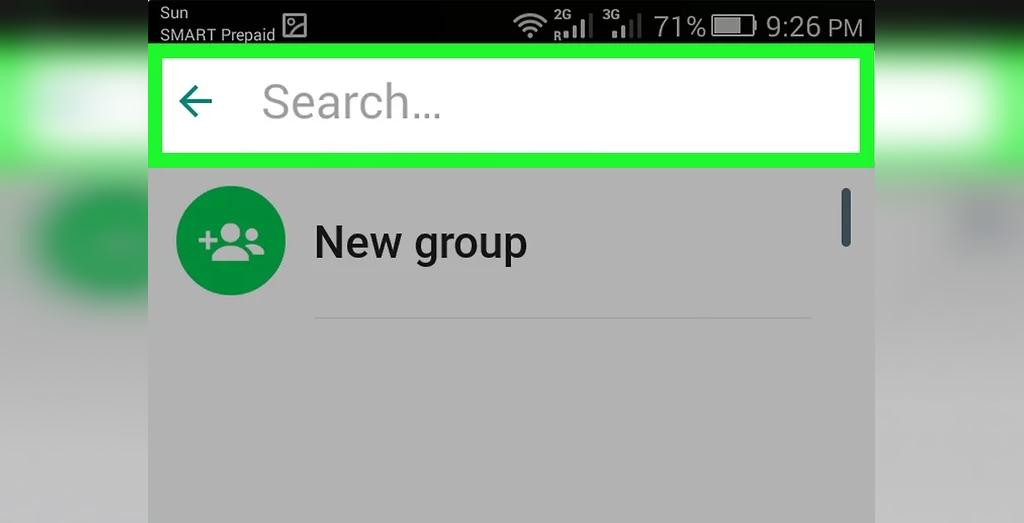 روش آسان پیدا کردن مخاطبین در واتساپ اندروید