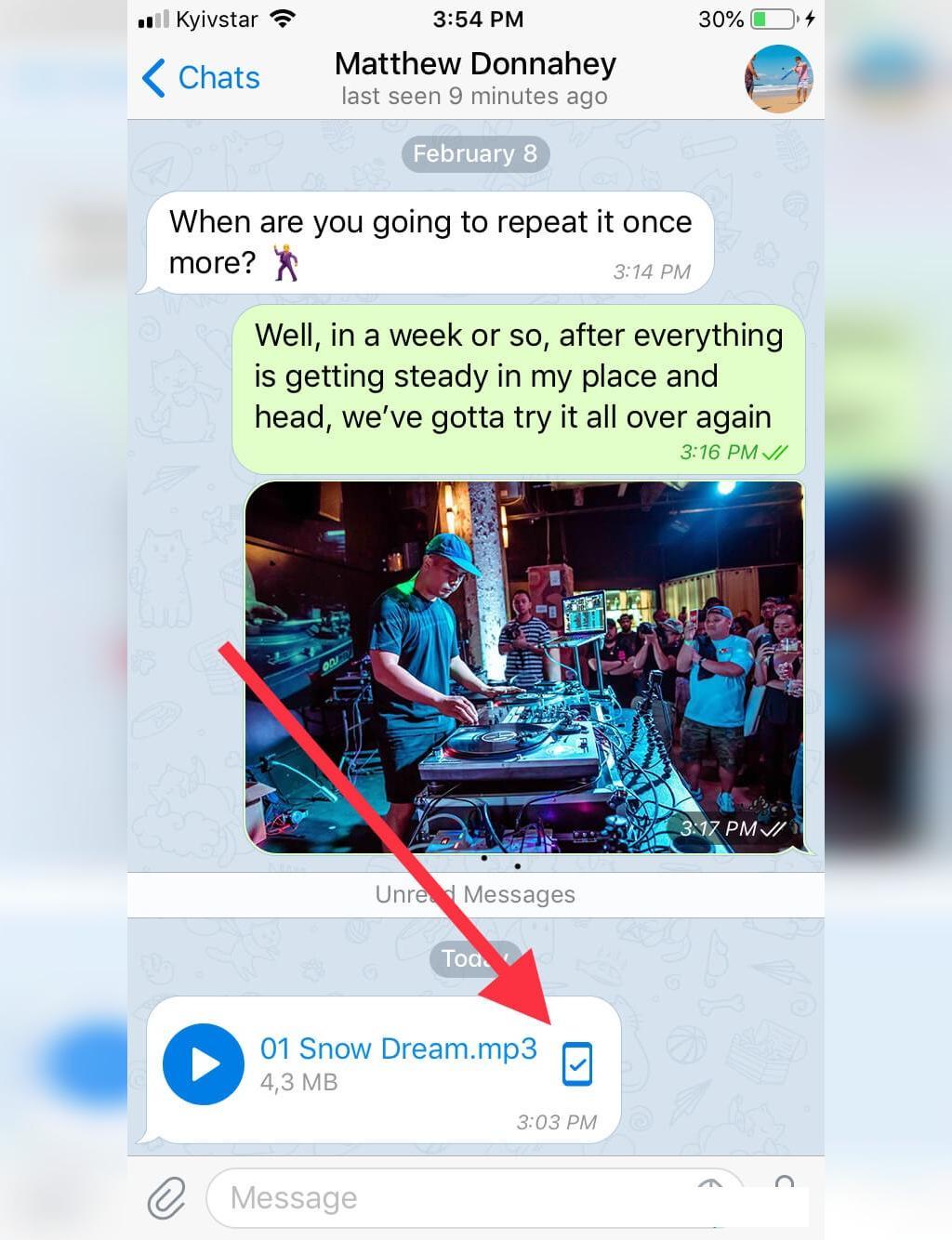 نحوه ذخیره سازی موزیک تلگرام در آیفون