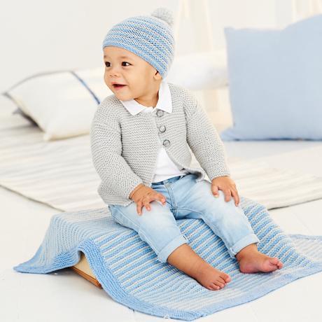 مدلهای پتوی بافتنی نوزادی پسر ساده