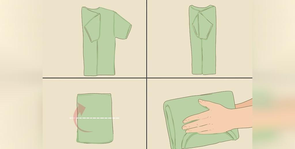 آموزش تا کردن تی شرت در کمترین حجم