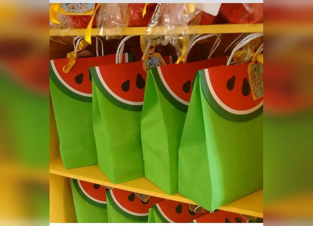 کاردستی پاکت شب یلدا با طرح میوه هندوانه