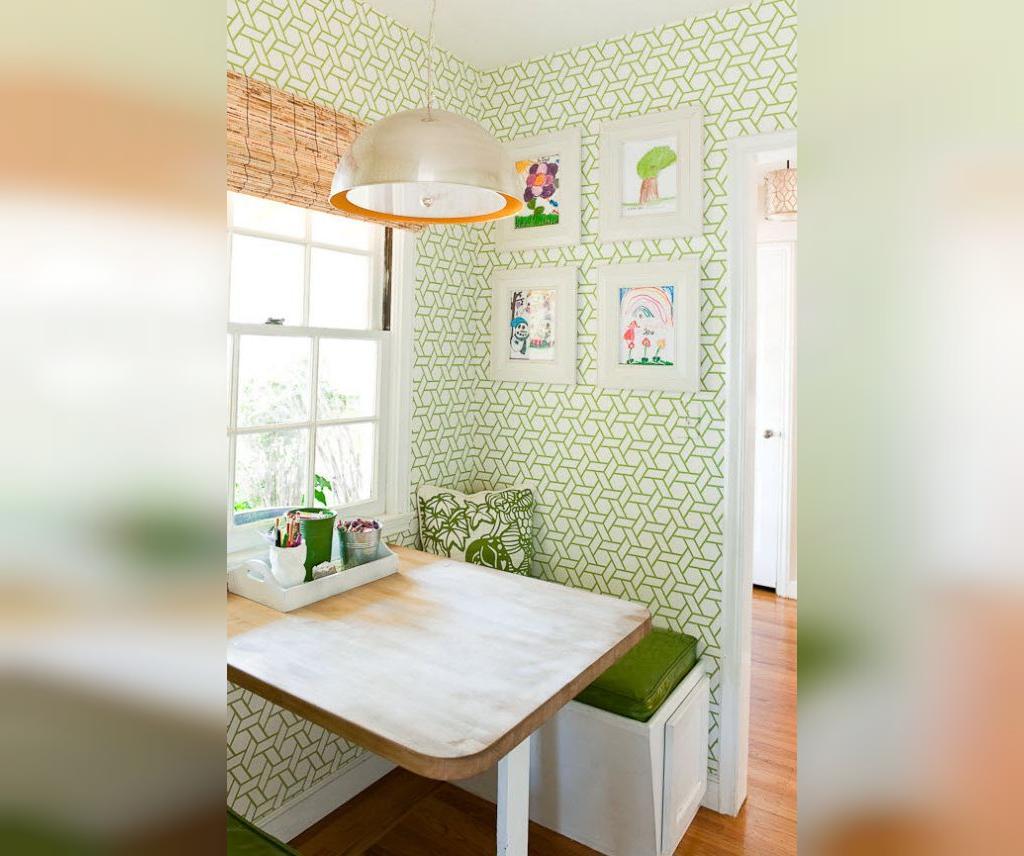 بزرگتر نشان دادن آشپزخانه کوچک