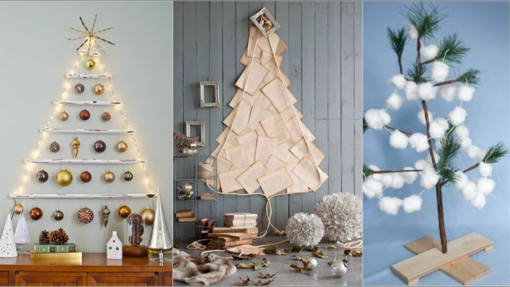 23 ایده تزیین درخت کریسمس با وسایل دور ریختنی و ساده