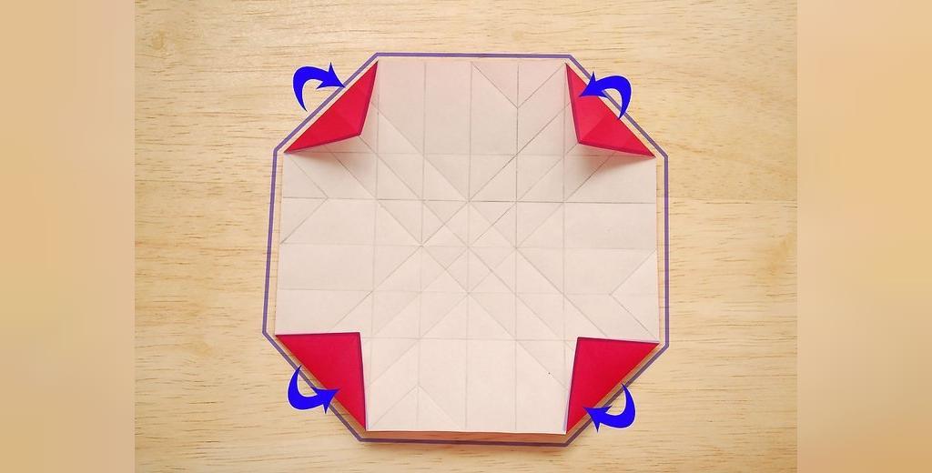 ایجاد ساختار گل رز کاغذی
