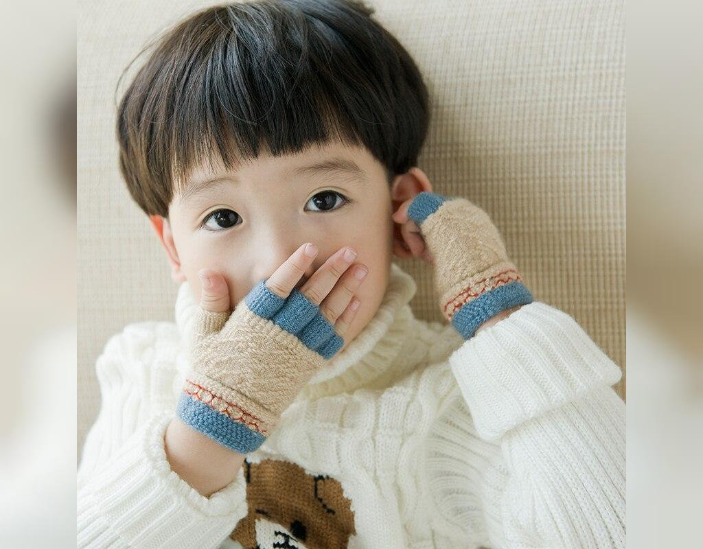 مدل دستکش بافتنی پسرانه فینگر لس
