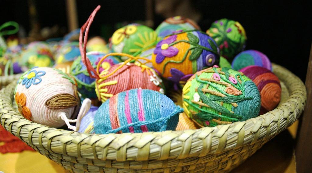 طراحی تخم مرغ هفت سین شیک با کاموا رنگی