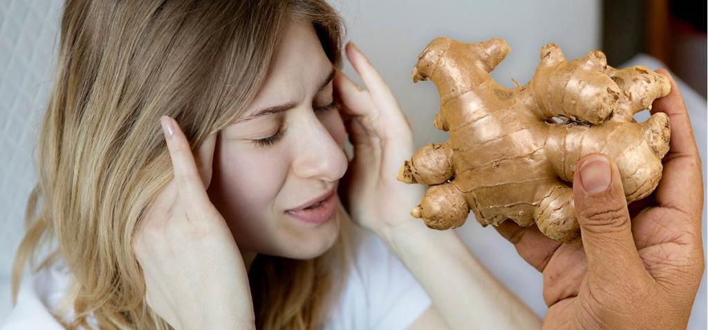 خواص زنجبیل برای درمان سردرد
