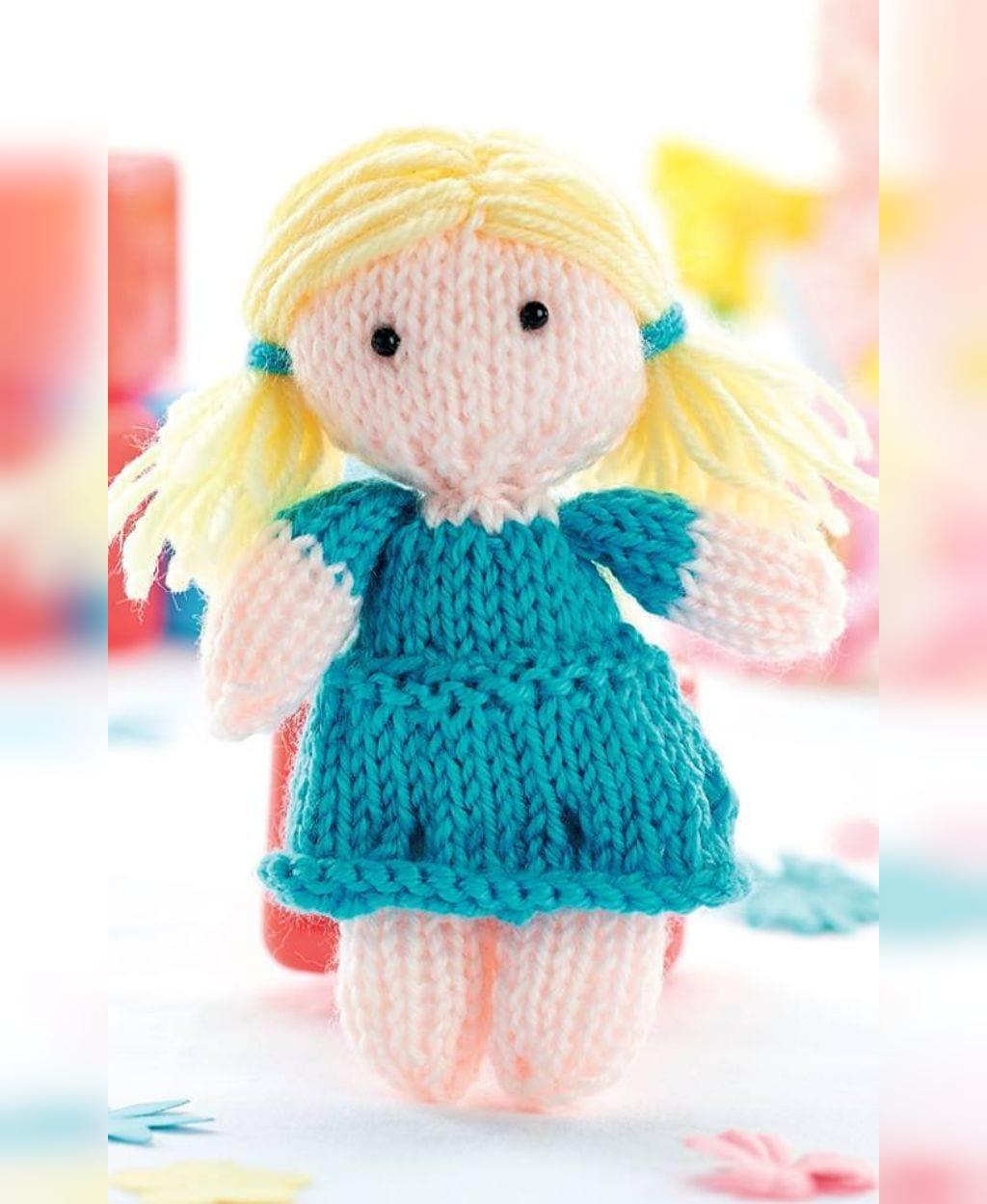 عروسک بافتنی دخترانه شیک و ساده