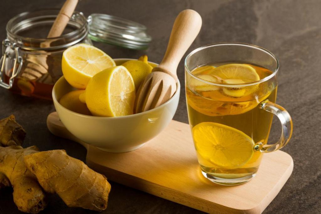 دمنوش لاغری با زنجبیل و لیمو