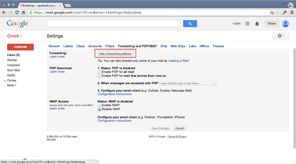 نحوه ارسال پیام های Gmail به ایمیل یاهو